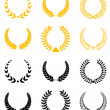Set of laurel wreaths — Stock Vector #4651026