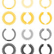 Set of laurel wreaths — Stock vektor #4651031