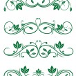Stock Vector: Vintage floral decorations