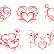 Valentine hearts - Stock Vector