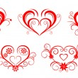 Valentine hearts — Stock Vector