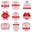 Royalty-Free Stock Imagen vectorial: Set of labels