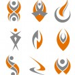 Stock Vector: Set of abstract symbols