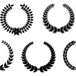 Set of laurel wreaths — Stock Vector #4651237