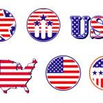 American patriotic symbols — Stock Vector #4651239
