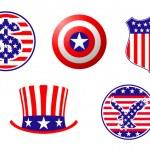 American patriotic symbols — Stock Vector #4651241