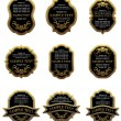 Set of vintage gold labels - Stock Vector