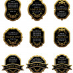 Set of vintage gold labels — Stock Vector #4651254