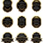 Set of vintage gold labels — Stock Vector