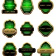 Royalty-Free Stock ベクターイメージ: Set of vintage gold labels