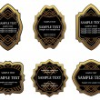 Set of vintage gold labels — Vector de stock