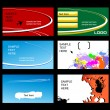 Royalty-Free Stock Vectorafbeeldingen: Set of business cards