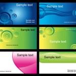 conjunto de cartões de visita — Vetorial Stock