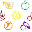 Fruits icons — Stock Vector #4657752