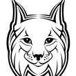 Royalty-Free Stock Vector Image: Lynx mascot