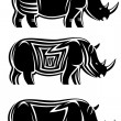 Royalty-Free Stock Vectorielle: Wild rhinoceros