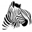 Wild zebra — Stock Vector