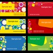 Set of business cards — Grafika wektorowa