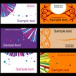 Stock vektor: Set of business cards