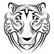Tiger sign - Stock Vector