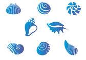Set of seashells — Stock Vector