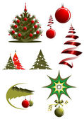 Christmas icons and symbols — Stock Vector