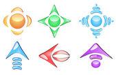 Arrow glossy icons — Stockvektor