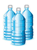Water bottles — Stock Vector