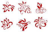 Kwiatowy i dekoracje kwiatowe — Wektor stockowy