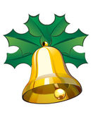 Christmas bell — Vector de stock