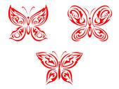 Tatouage papillon — Vecteur