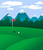 Golf field — Stock Vector