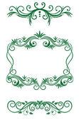 Floral vintage decorations — Stock Vector
