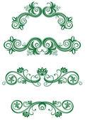 Ročník květinové dekorace — Stock vektor