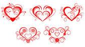 Valentine hearts — ストックベクタ