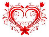 Coração dos namorados — Vetor de Stock