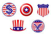 American fosterländska symboler — Stockvektor