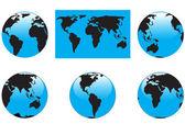 карта и глобусы — Cтоковый вектор