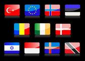 Glänzende Flaggen — Stockvektor