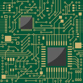 Microcircuit — Stock Vector