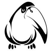 Fun bird — Stock Vector