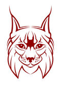 Lynx mascot — Stock Vector