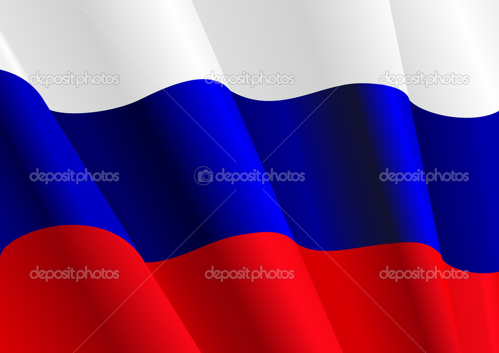 Flag of Russia for design as a background or texture — Stock Vector #4651123