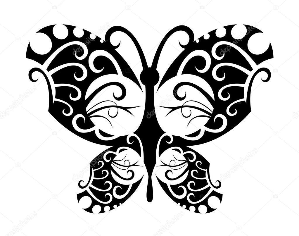 tattoo schmetterling stockvektor seamartini 4657631. Black Bedroom Furniture Sets. Home Design Ideas