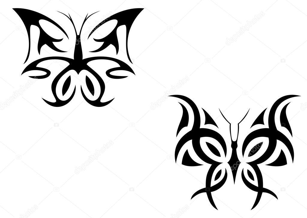 бабочка рисунок тату