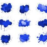 Синие чернила капли — Cтоковый вектор