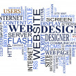 Design and web tags cloud - Imagen vectorial
