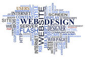 Design a web tagy mrak — Stock vektor