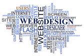 Nube de etiquetas de diseño y web — Vector de stock