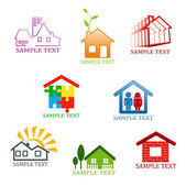 Real estate symbols — Stockvector